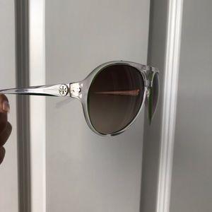 Trendy Tory Burch Clear Aviator Style Sunglasses